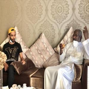 """ماجد عبدالله يطمئن على صحة """" الزيلعي """""""