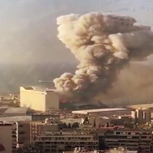 مقاطع مصورة التقطتها الكاميرات أثناء انفجار بيروت أرعبت العالم